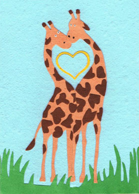 Cod Delivery Selegiline - Cards from Africa : Giraffe Love