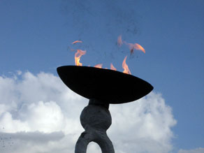 The perpetual flame at Kigali's Genocide Memorial. Rwanda's message to the world